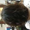 少し伸びきった髪を切ってふんわりパーマに!